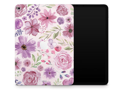"Sticky Bunny Shop iPad Skins iPad Pro 12.9"" Gen 3 (2018-2019) Watercolor Flowers iPad Skin"