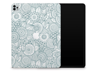 "Sticky Bunny Shop iPad Skins iPad Pro 12.9"" Gen 4 (2020) Abstract Floral iPad Skin"