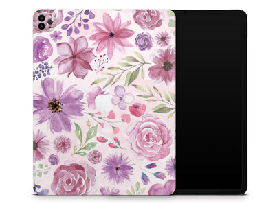 "Sticky Bunny Shop iPad Skins iPad Pro 12.9"" Gen 4 (2020) Watercolor Flowers iPad Skin"
