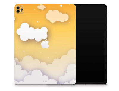 "Sticky Bunny Shop iPad Skins iPad Pro 12.9"" Gen 4 (2020) Yellow Clouds In The Sky iPad Skin"