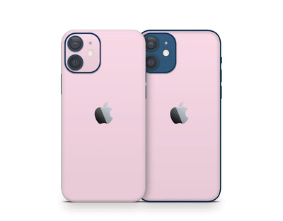 Sticky Bunny Shop iPhone 11 Pro Max Baby Pink Cute Solid Pastel iPhone 12 Skin | Choose Your Color