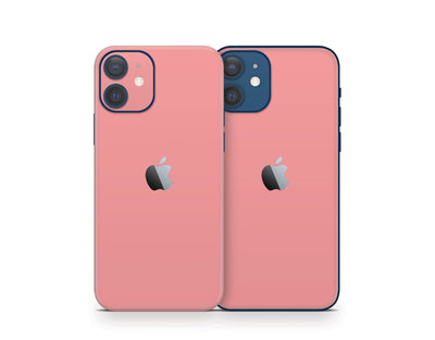 Sticky Bunny Shop iPhone 11 Pro Max Light Coral Cute Solid Pastel iPhone 12 Skin | Choose Your Color