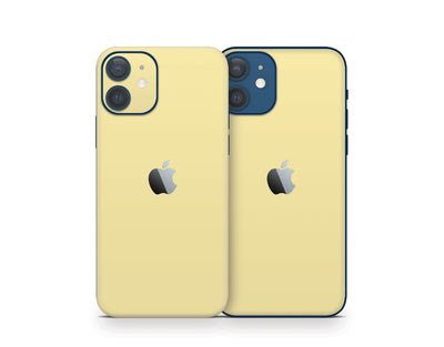 Sticky Bunny Shop iPhone 11 Pro Max Light Yellow Cute Solid Pastel iPhone 12 Skin | Choose Your Color