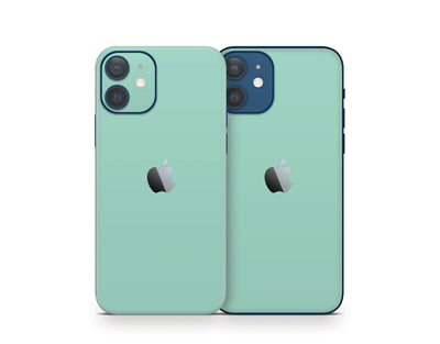 Sticky Bunny Shop iPhone 11 Pro Max Mint Cute Solid Pastel iPhone 12 Skin | Choose Your Color