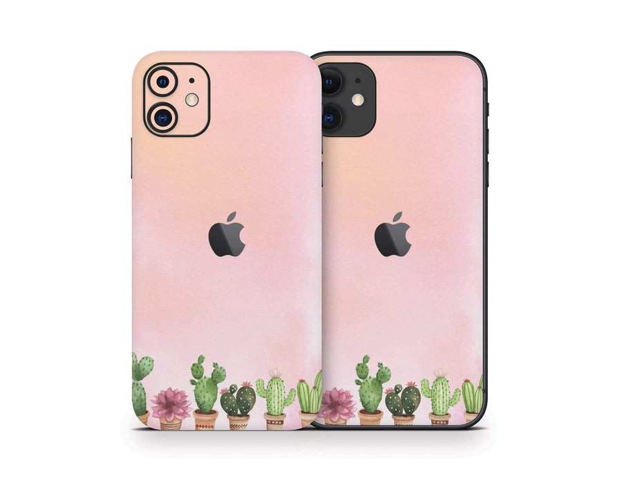 Sticky Bunny Shop iPhone 11 Watercolor Cactus iPhone 11 Skin