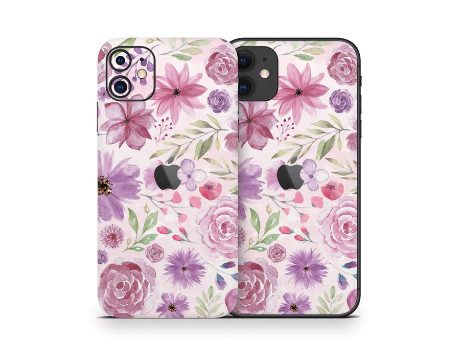 Sticky Bunny Shop iPhone 11 Watercolor Flowers iPhone 11 Skin