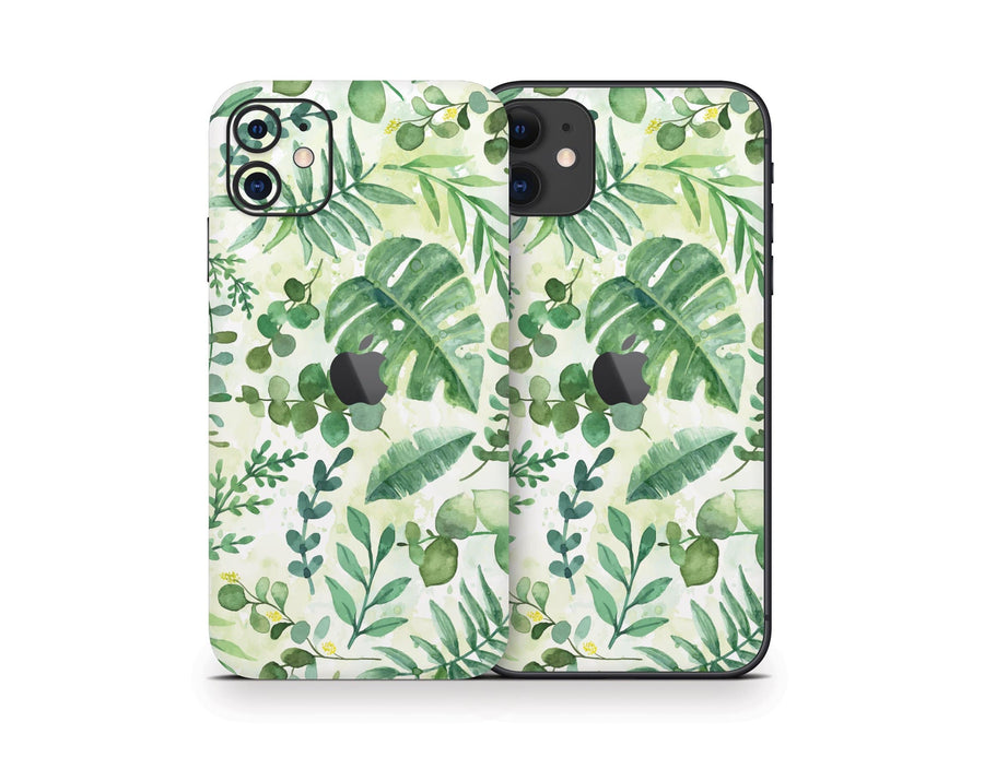 Sticky Bunny Shop iPhone 11 Watercolor Leaves iPhone 11 Skin