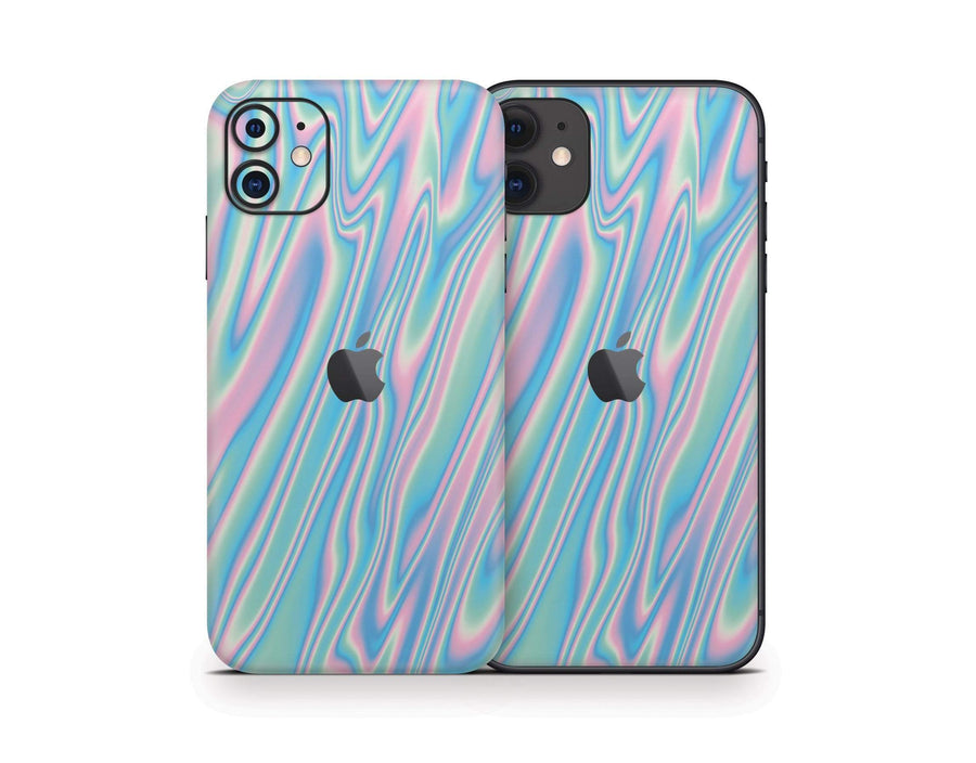 Sticky Bunny Shop iPhone 11 Wavy Pastel iPhone 11 Skin