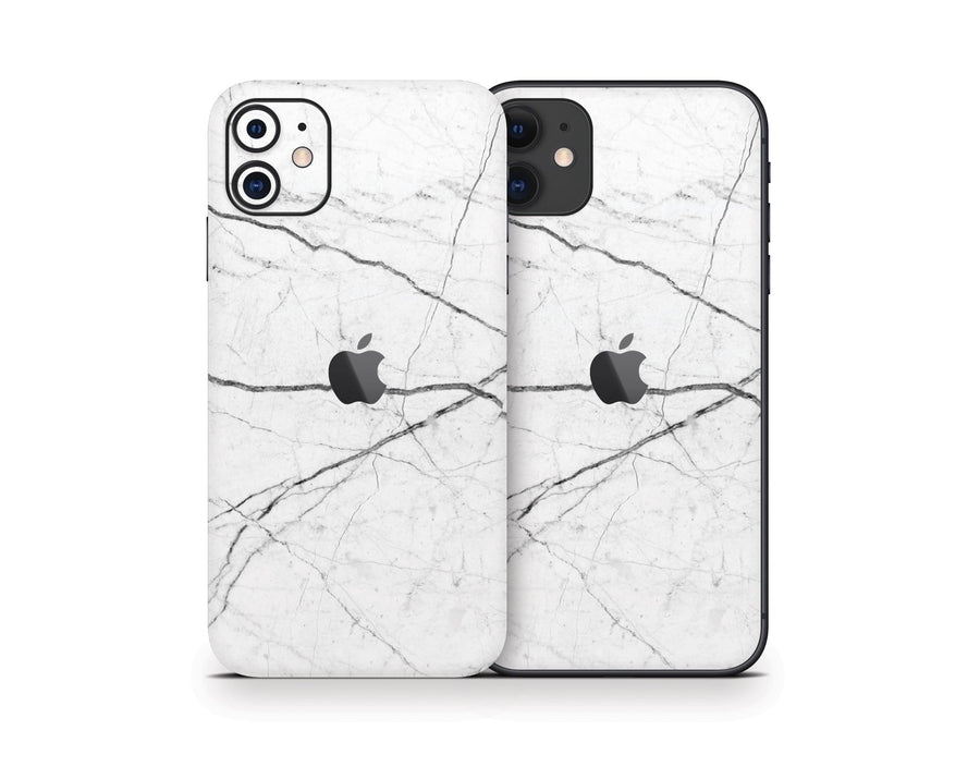 Sticky Bunny Shop iPhone 11 White Marble iPhone 11 Skin