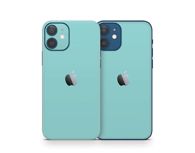 Sticky Bunny Shop iPhone 12 Light Teal Cute Solid Pastel iPhone 12 Skin | Choose Your Color