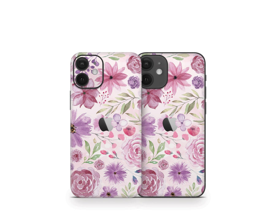 Sticky Bunny Shop iPhone 12 Mini Watercolor Flowers iPhone 12 Mini Skin