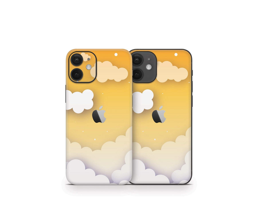 Sticky Bunny Shop iPhone 12 Mini Yellow Clouds In The Sky iPhone 12 Mini Skin