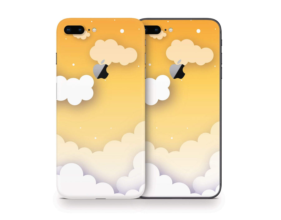 Sticky Bunny Shop iPhone 8 Plus iPhone 8 Plus Yellow Clouds In The Sky iPhone 8 Plus Skin