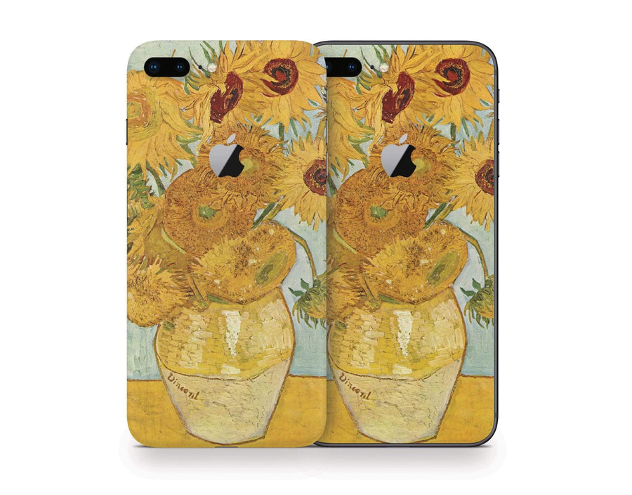 Sticky Bunny Shop iPhone 8 Plus Twelve Sunflowers By Van Gogh iPhone 8 Plus Skin