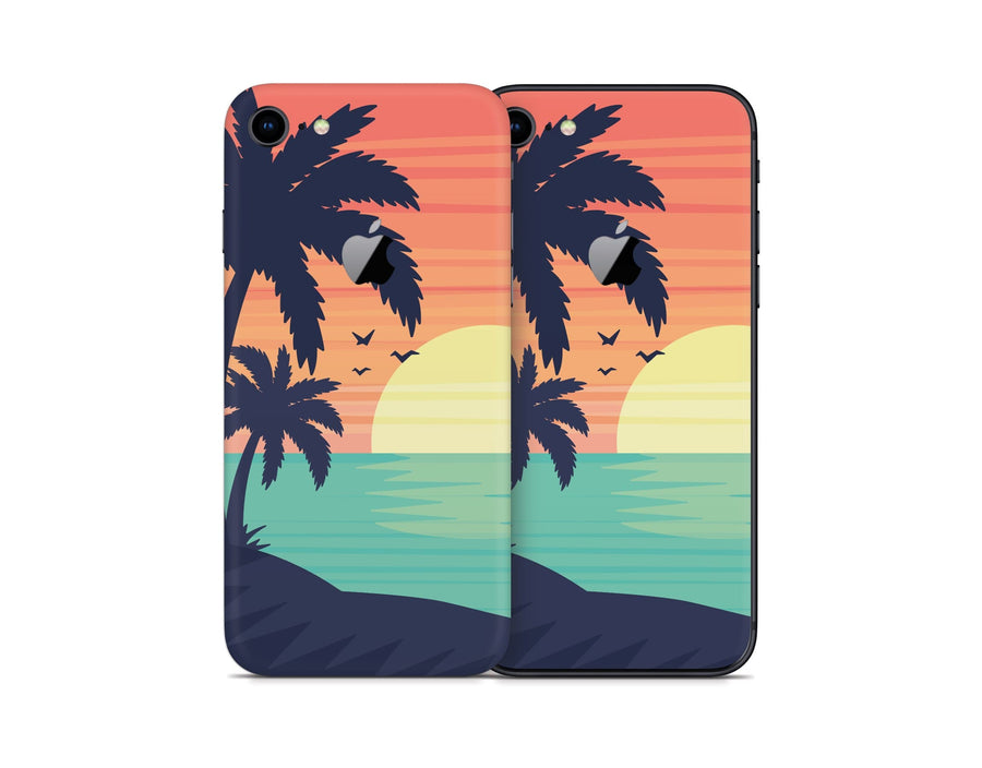 Sticky Bunny Shop iPhone 8 Sunset Beach iPhone 8 Skin