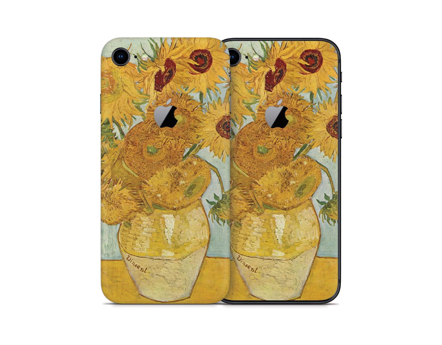Sticky Bunny Shop iPhone 8 Twelve Sunflowers By Van Gogh iPhone 8 Skin