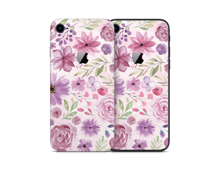 Sticky Bunny Shop iPhone 8 Watercolor Flowers iPhone 8 Skin