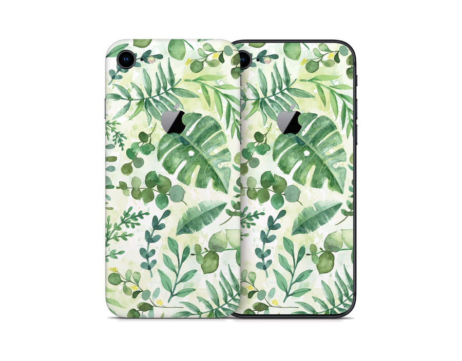 Sticky Bunny Shop iPhone 8 Watercolor Leaves iPhone 8 Skin