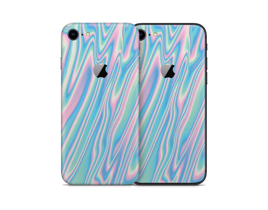 Sticky Bunny Shop iPhone 8 Wavy Pastel iPhone 8 Skin