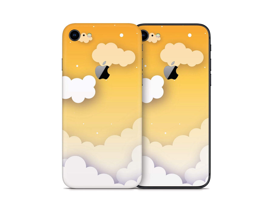 Sticky Bunny Shop iPhone 8 Yellow Clouds In The Sky iPhone 8 Skin