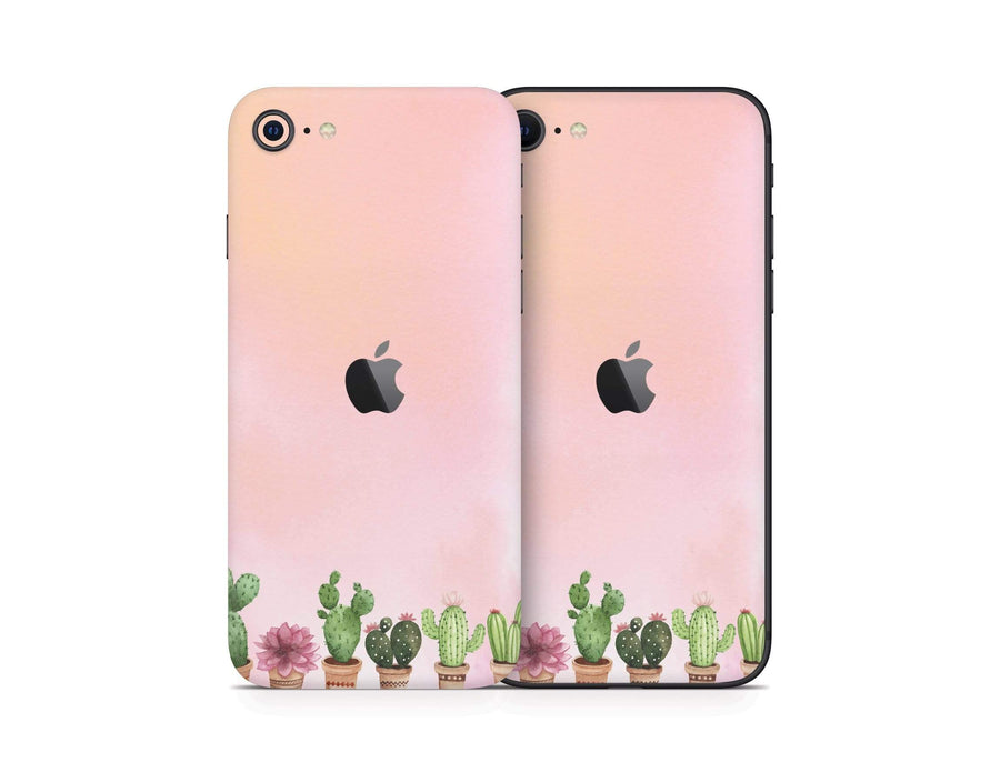 Sticky Bunny Shop iPhone SE (2nd Gen) Watercolor Cactus iPhone SE (2nd Gen) Skin