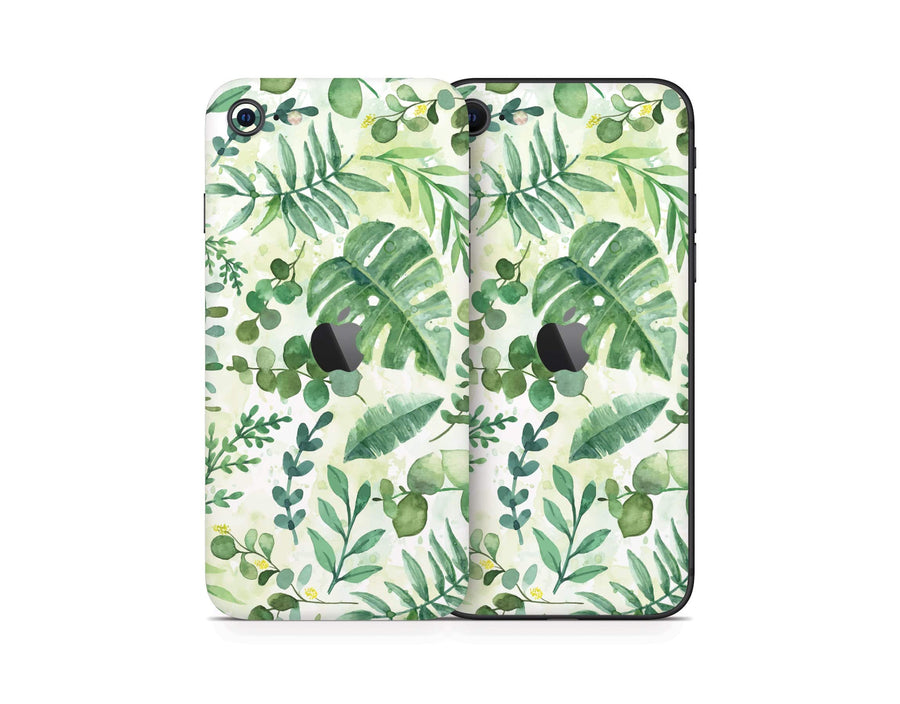 Sticky Bunny Shop iPhone SE (2nd Gen) Watercolor Leaves iPhone SE (2nd Gen) Skin