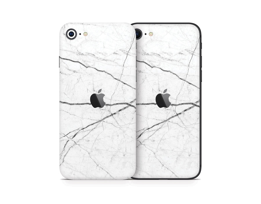 Sticky Bunny Shop iPhone SE (2nd Gen) White Marble iPhone SE (2nd Gen) Skin