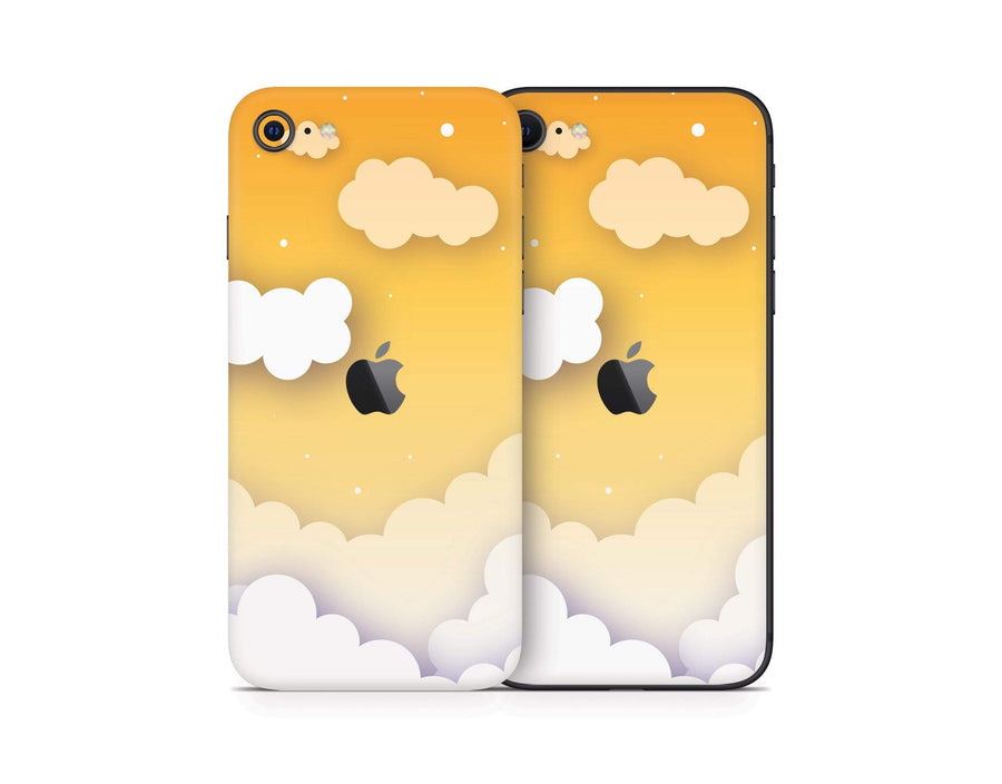 Sticky Bunny Shop iPhone SE (2nd Gen) Yellow Clouds In The Sky iPhone SE (2nd Gen) Skin