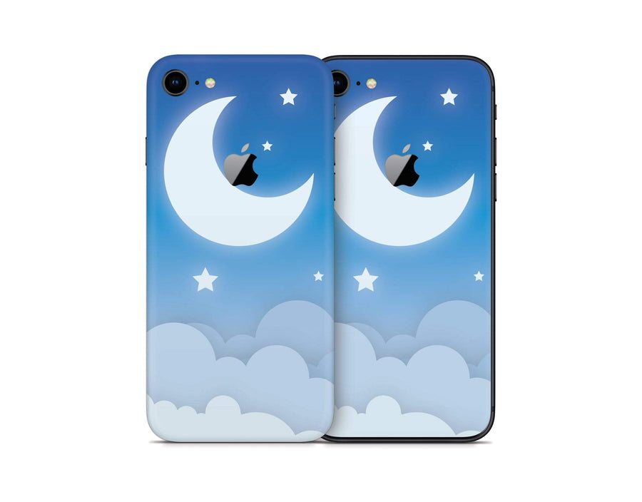 Sticky Bunny Shop iPhone Skins Blue Lunar Sky iPhone Skin