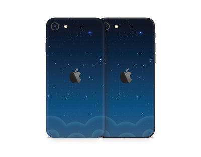 Sticky Bunny Shop iPhone Skins Blue Night Sky iPhone Skin