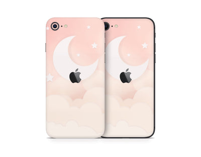 Sticky Bunny Shop iPhone Skins Creme Lunar Sky iPhone Skin