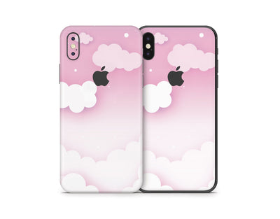 Sticky Bunny Shop iPhone Skins Pink Clouds In The Sky iPhone Skin