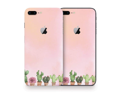 Sticky Bunny Shop iPhone Skins Watercolor Cactus iPhone Skin