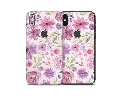 Sticky Bunny Shop iPhone Skins Watercolor Flowers iPhone Skin