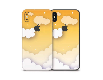 Sticky Bunny Shop iPhone Skins Yellow Clouds In The Sky iPhone Skin
