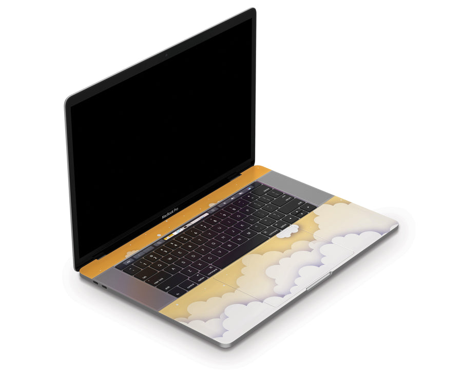 "Sticky Bunny Shop MacBook Pro 15"" Touch Bar (2016-2019) Yellow Clouds In The Sky MacBook Pro 15"" Touch Bar (2016-2019) Skin"