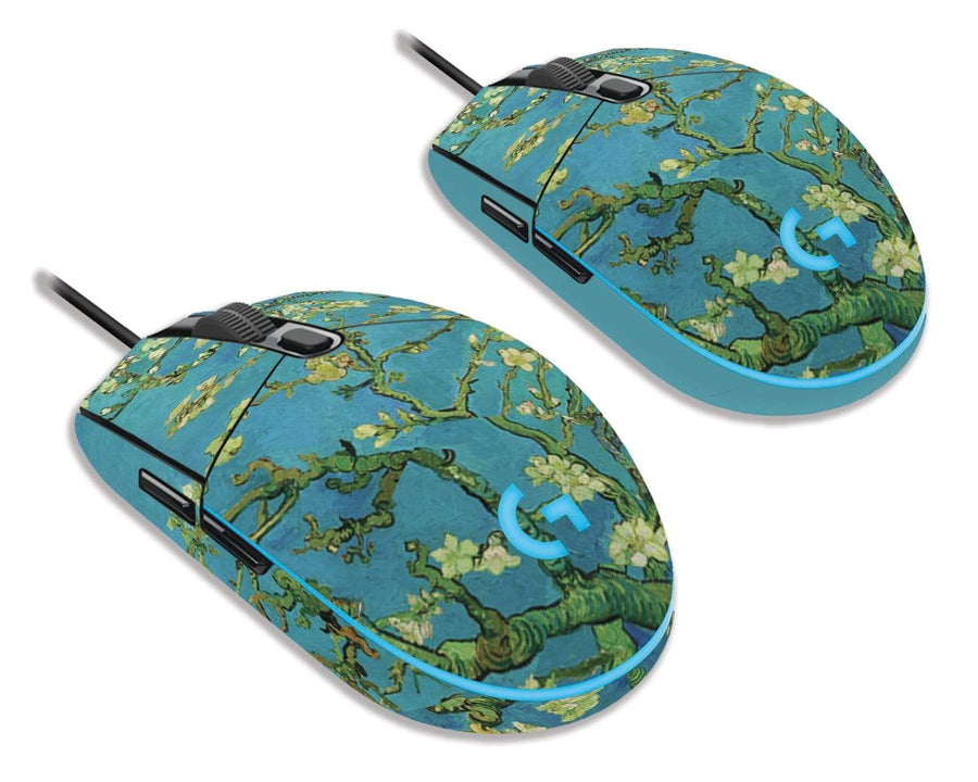 Sticky Bunny Shop Mouse Skins Almond Blossoms By Van Gogh Logitech G203 Prodigy Mouse Skin