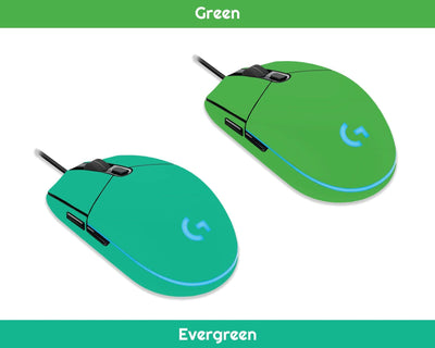 Sticky Bunny Shop Mouse Skins Green Classic Solid Color Logitech G203 Prodigy Mouse Skin | Choose From A Variety Of Color Options