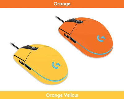 Sticky Bunny Shop Mouse Skins Orange Classic Solid Color Logitech G203 Prodigy Mouse Skin | Choose From A Variety Of Color Options