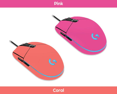 Sticky Bunny Shop Mouse Skins Pink Classic Solid Color Logitech G203 Prodigy Mouse Skin | Choose From A Variety Of Color Options
