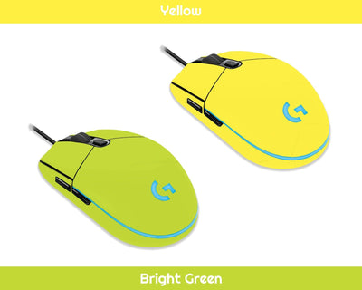 Sticky Bunny Shop Mouse Skins Yellow Classic Solid Color Logitech G203 Prodigy Mouse Skin | Choose From A Variety Of Color Options
