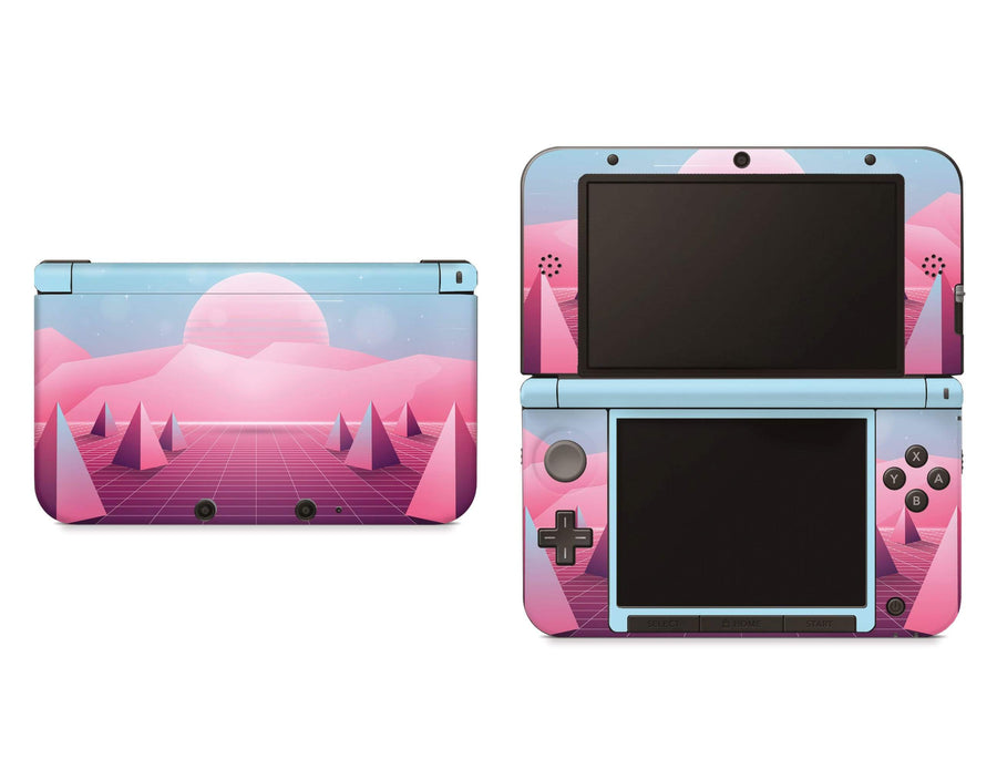 Sticky Bunny Shop Nintendo 3DS XL 3DS XL Pastel Vaporwave Outrun Retro 80s Nintendo 3DS XL And New 3DS XL Skin