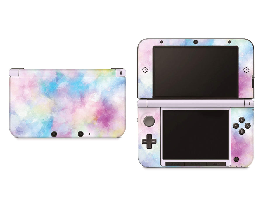 Sticky Bunny Shop Nintendo 3DS XL Cotton Candy Watercolor Nintendo 3DS XL Skin