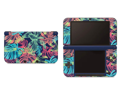 Sticky Bunny Shop Nintendo 3DS XL Neon Tropical Leaves Nintendo 3DS XL Skin