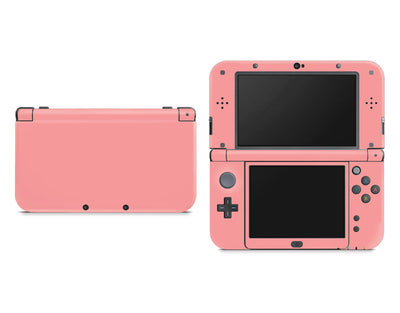 Sticky Bunny Shop Nintendo 3DS XL New 3DS XL / Light Coral Cute Solid Pastel Nintendo New 3DS XL Skin | Choose Your Color