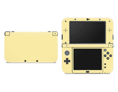 Sticky Bunny Shop Nintendo 3DS XL New 3DS XL / Light Yellow Cute Solid Pastel Nintendo New 3DS XL Skin | Choose Your Color