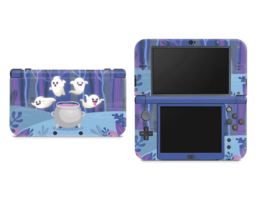 Sticky Bunny Shop Nintendo 3DS XL New 3DS XL Spooky Ghosts Purple Edition Nintendo New 3DS XL Skin