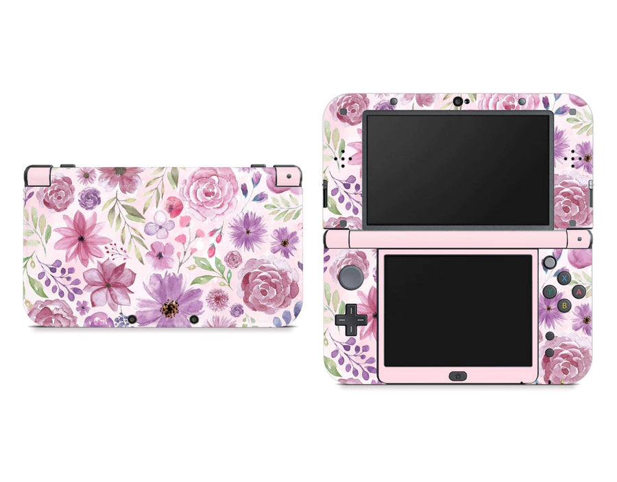 Sticky Bunny Shop Nintendo 3DS XL New 3DS XL Watercolor Flowers Nintendo New 3DS XL Skin