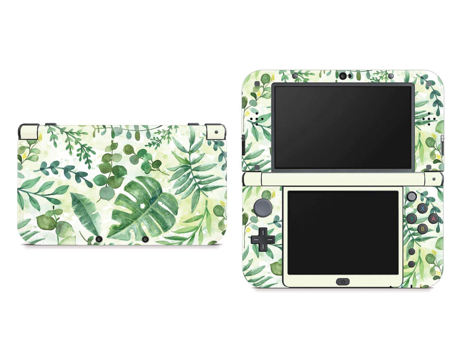 Sticky Bunny Shop Nintendo 3DS XL New 3DS XL Watercolor Leaves Nintendo New 3DS XL Skin