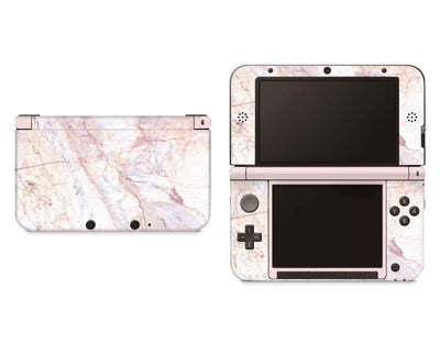 Sticky Bunny Shop Nintendo 3DS XL Rose Gold Marble Nintendo 3DS XL Skin